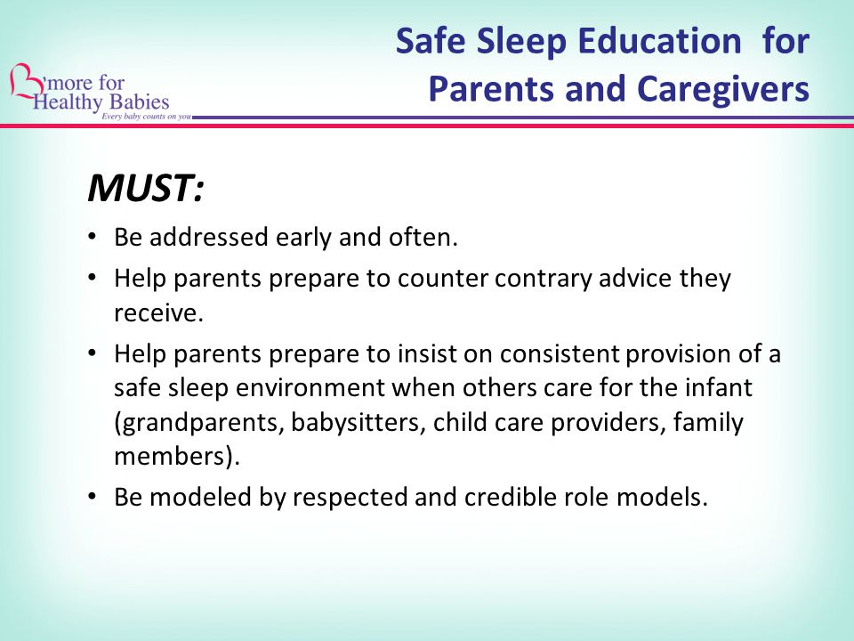 Safe Sleep Education for Parents and Caregivers