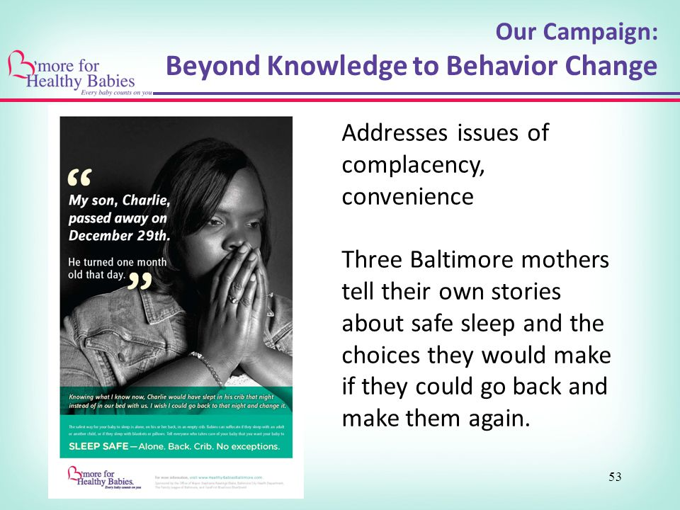 Beyond Knowledge to Behavior Change