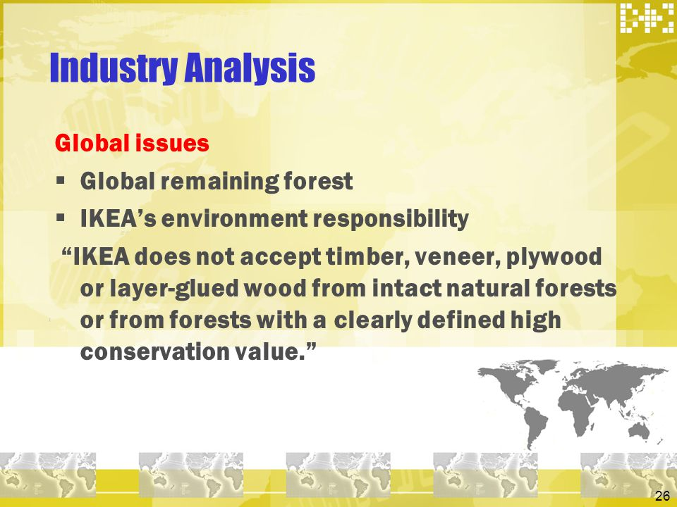 Industry Analysis Global issues Global remaining forest