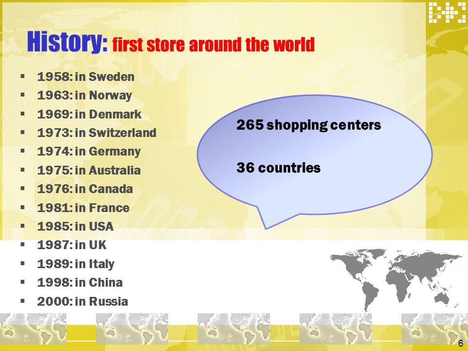 History: first store around the world