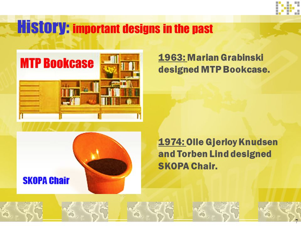 History: important designs in the past