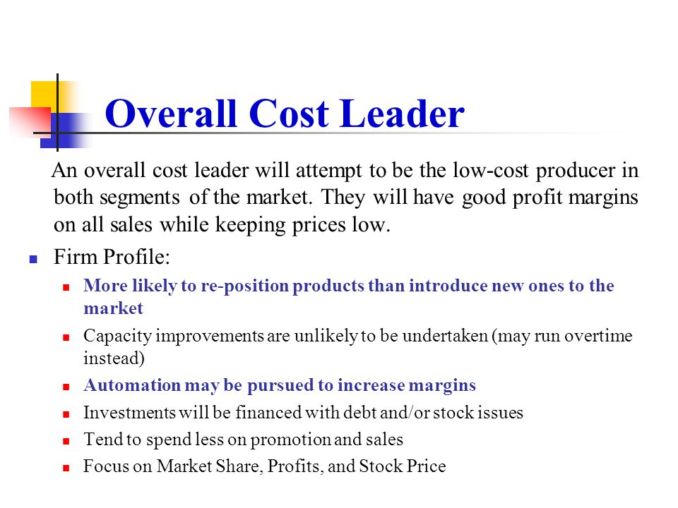 Overall Cost Leader