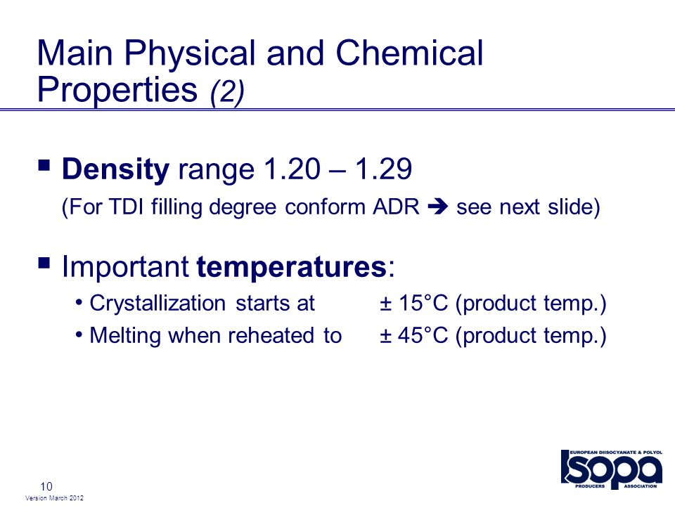 Main Physical and Chemical Properties (2)
