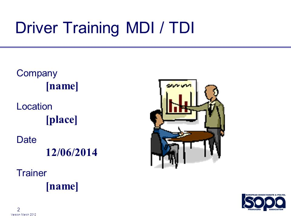 Driver Training MDI / TDI