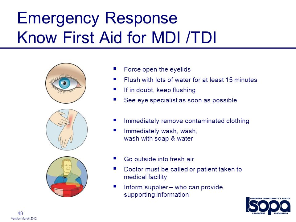 Emergency Response Know First Aid for MDI /TDI