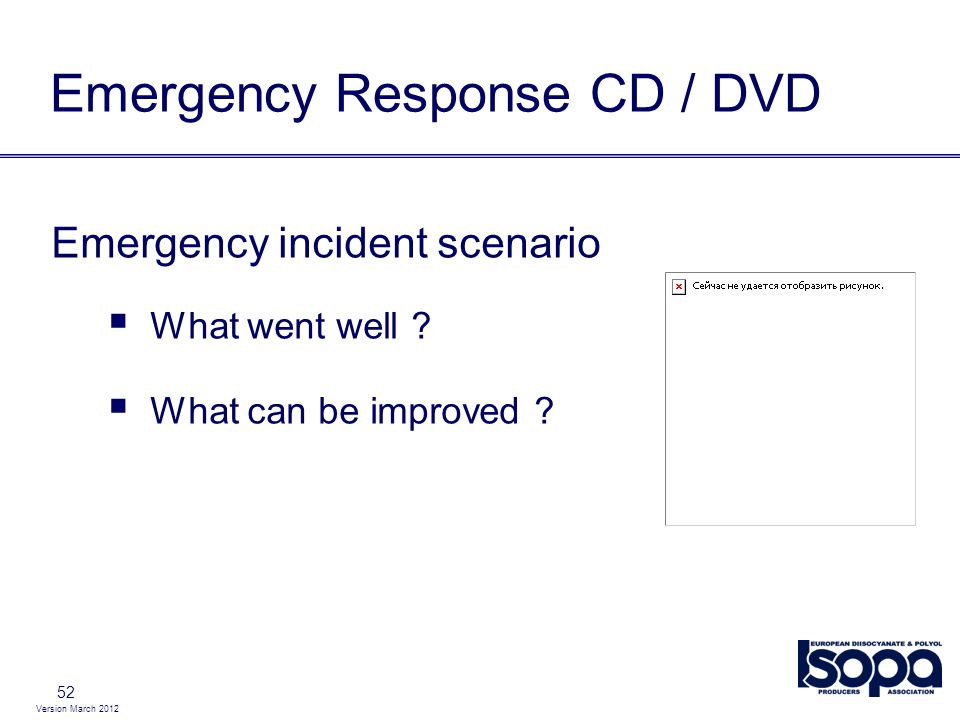 Emergency Response CD / DVD