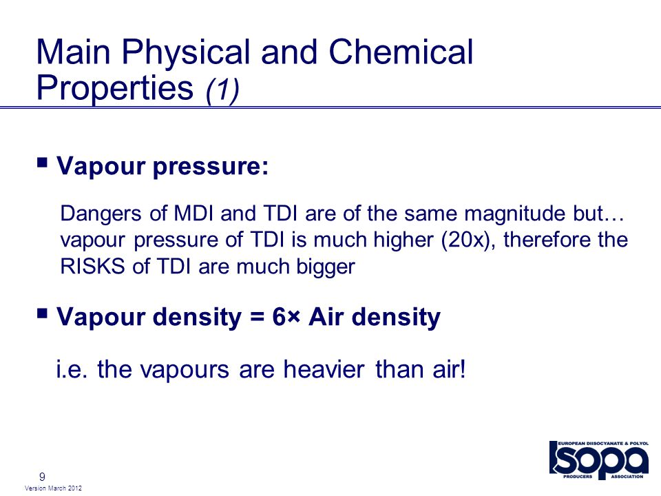 Main Physical and Chemical Properties (1)