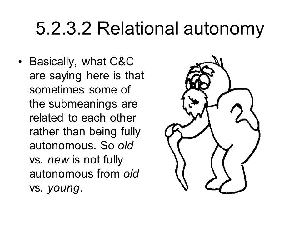 5.2.3.2 Relational autonomy