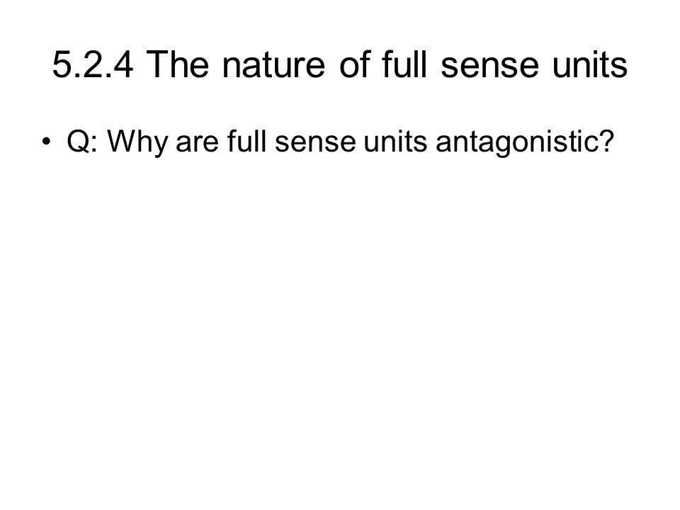5.2.4 The nature of full sense units