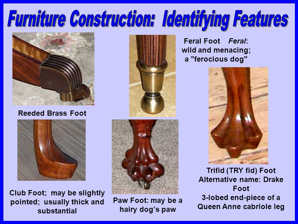 Furniture Construction: Identifying Features