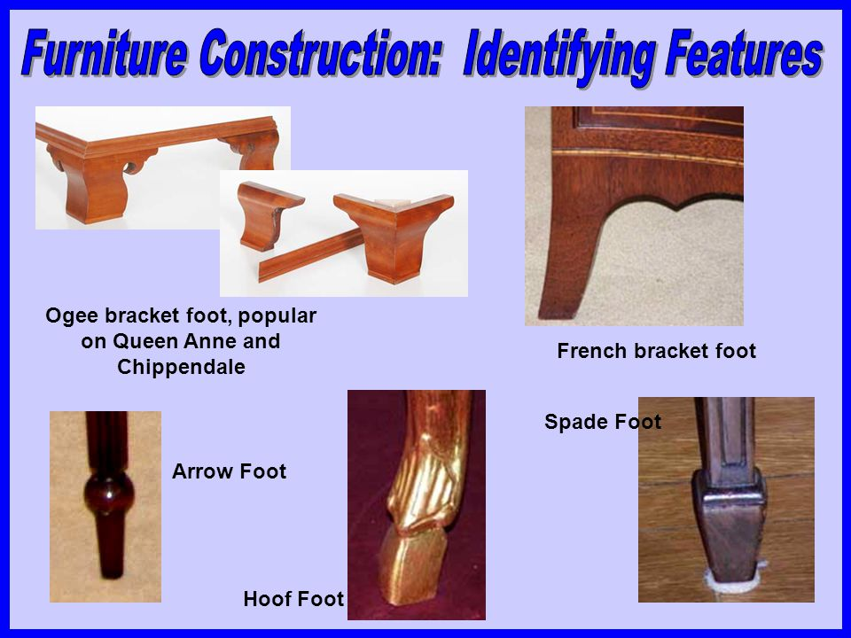 Ogee bracket foot, popular on Queen Anne and Chippendale