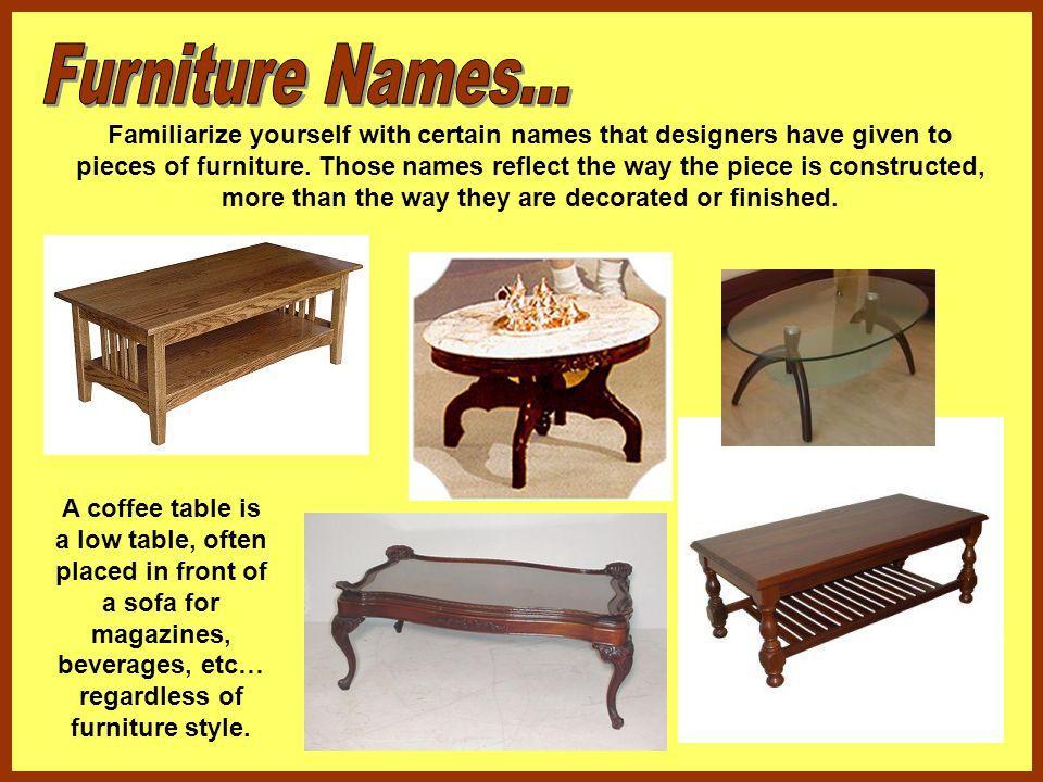 Furniture Names...