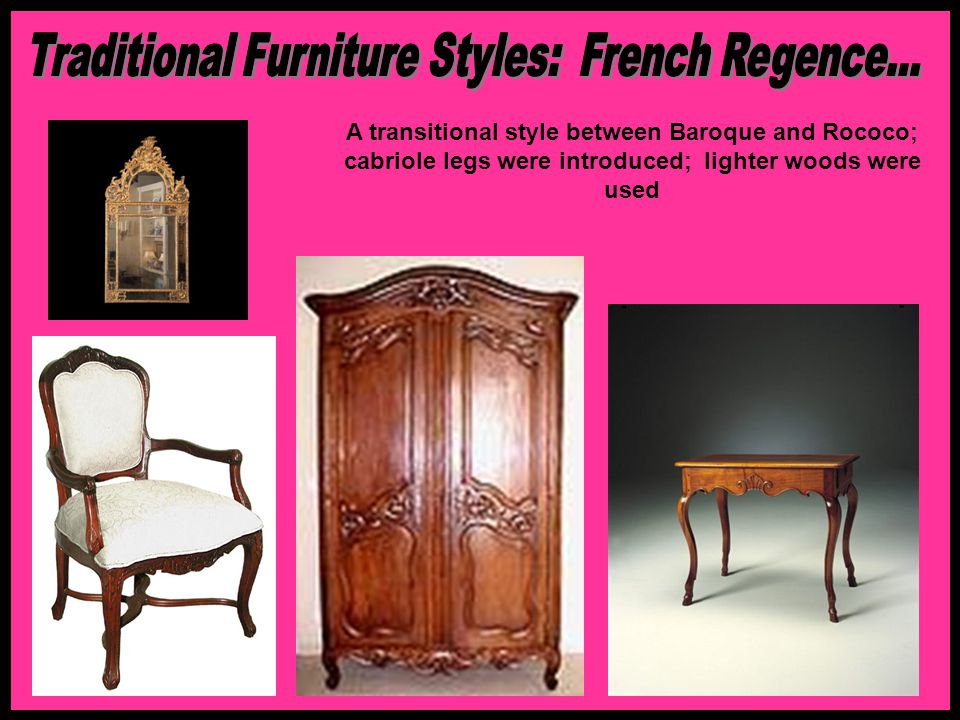 Traditional Furniture Styles: French Regence...