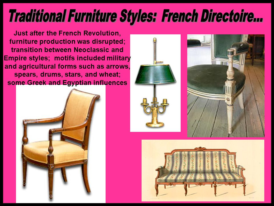 Traditional Furniture Styles: French Directoire...
