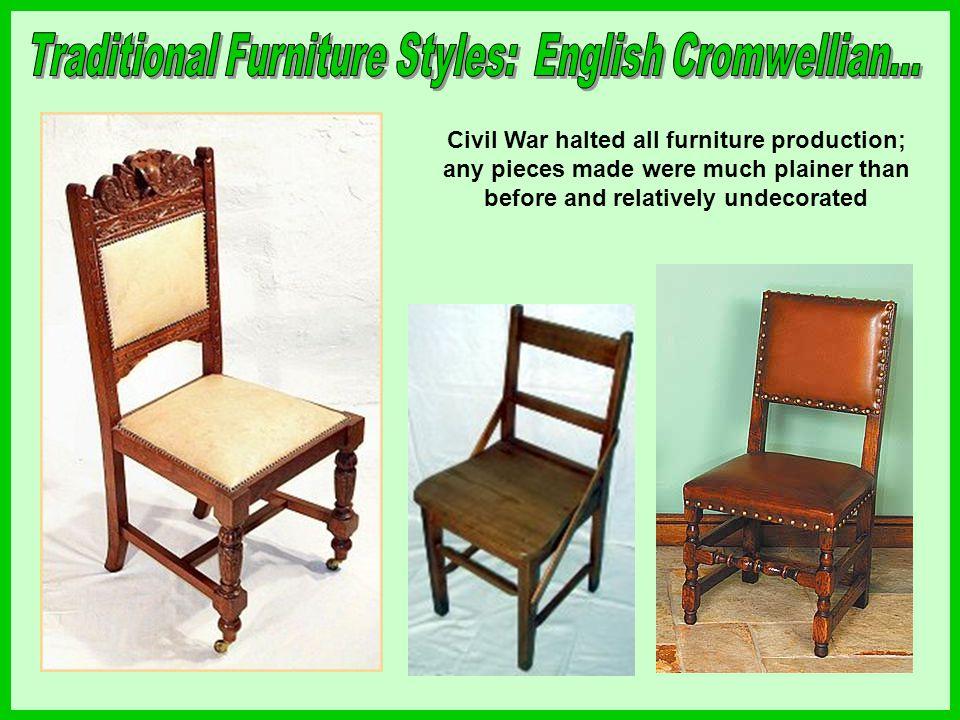 Traditional Furniture Styles: English Cromwellian...