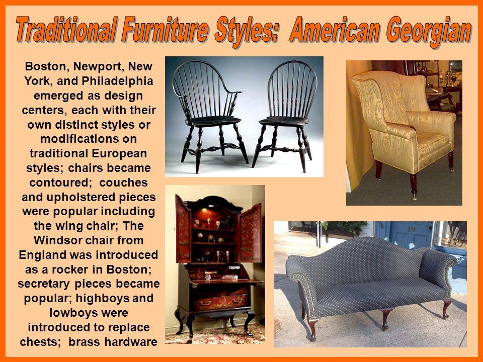 Traditional Furniture Styles: American Georgian