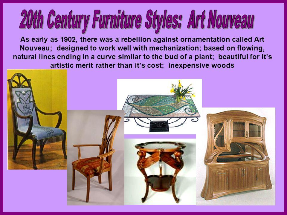 20th Century Furniture Styles: Art Nouveau
