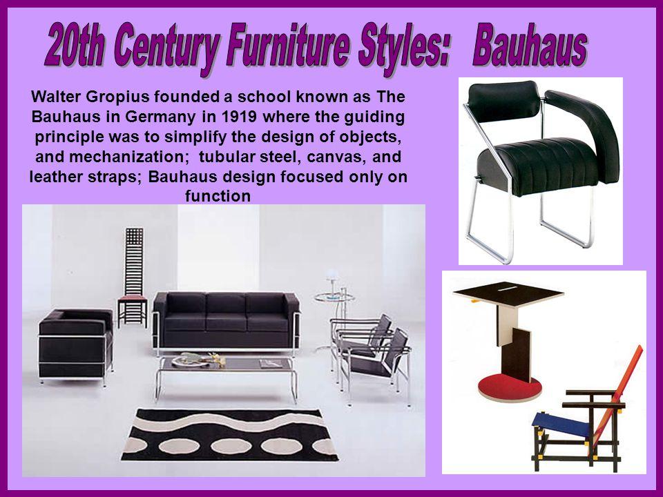 20th Century Furniture Styles: Bauhaus