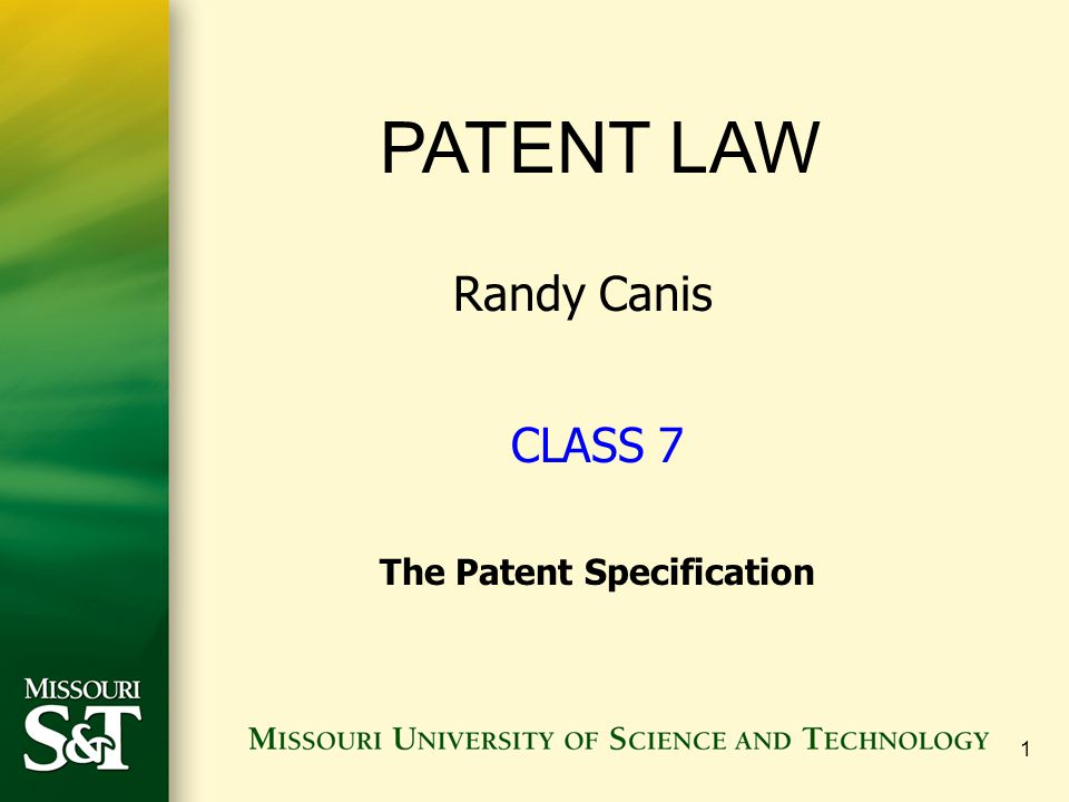 The Patent Specification