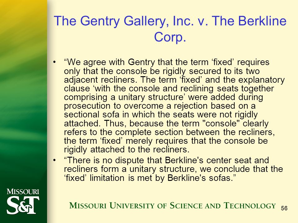 The Gentry Gallery, Inc. v. The Berkline Corp.