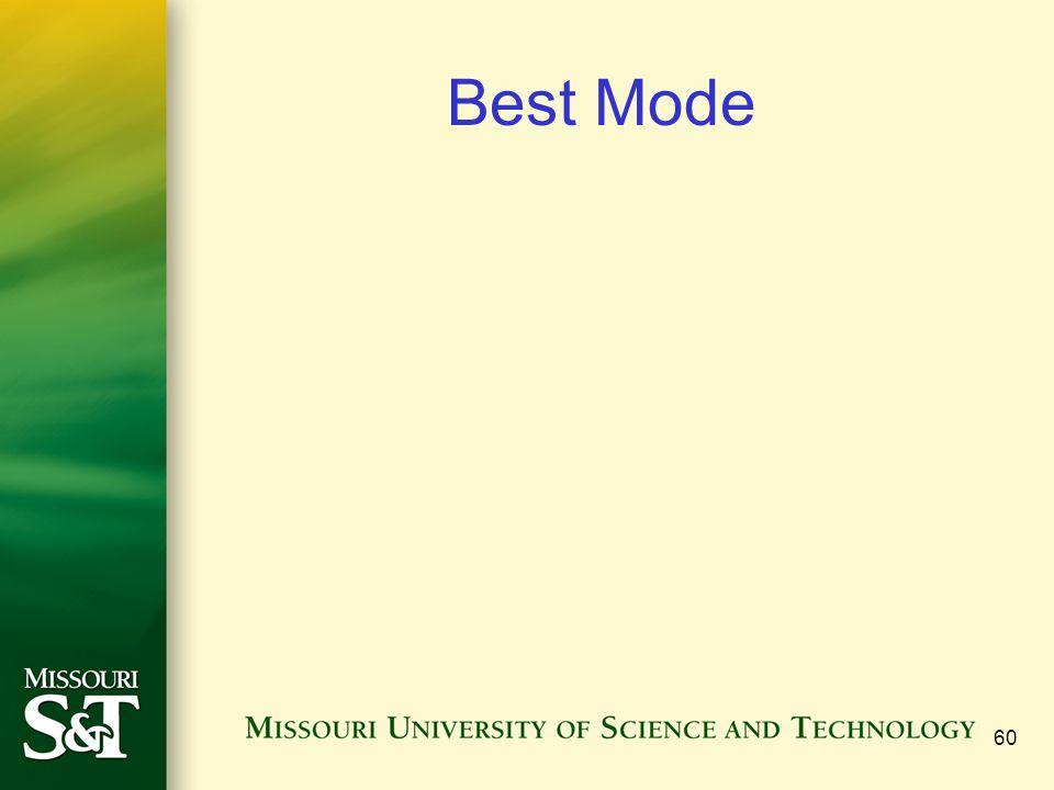 Best Mode