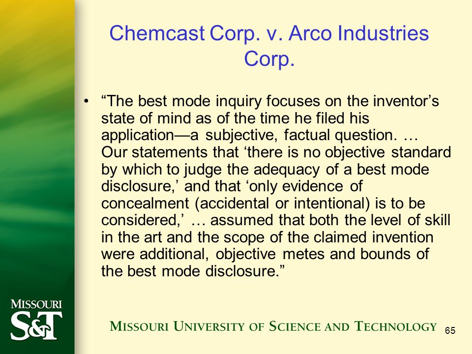 Chemcast Corp. v. Arco Industries Corp.