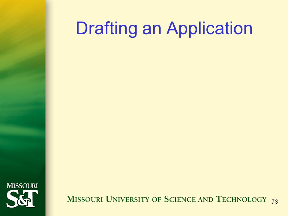 Drafting an Application