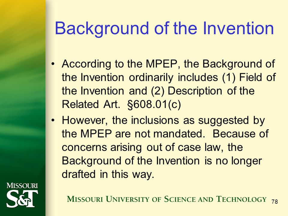 Background of the Invention