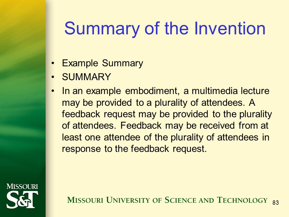 Summary of the Invention