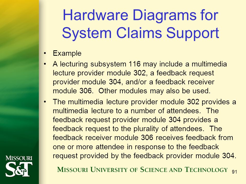 Hardware Diagrams for System Claims Support