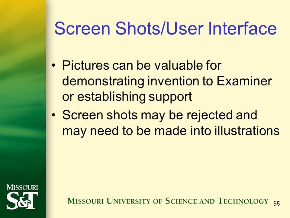Screen Shots/User Interface