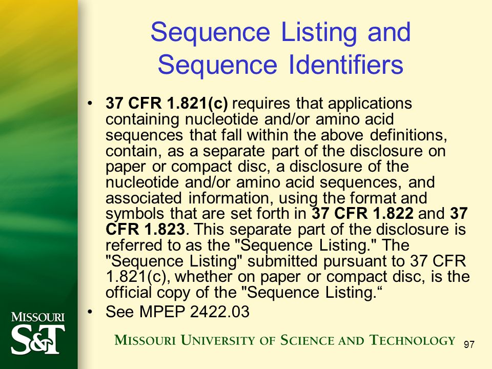 Sequence Listing and Sequence Identifiers