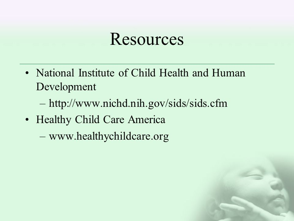 Resources National Institute of Child Health and Human Development