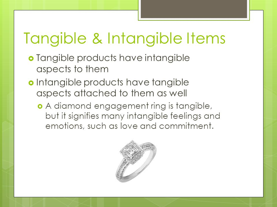 Tangible & Intangible Items