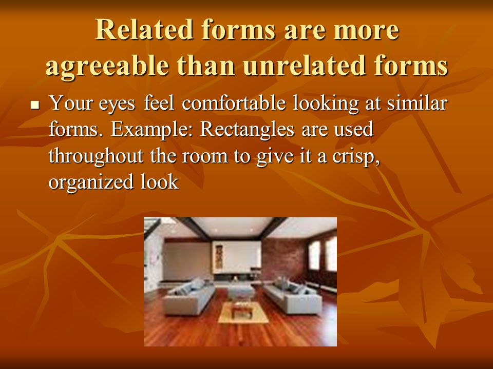 Related forms are more agreeable than unrelated forms
