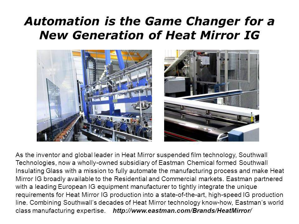 Automation is the Game Changer for a New Generation of Heat Mirror IG