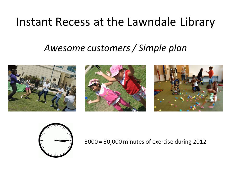 Instant Recess at the Lawndale Library