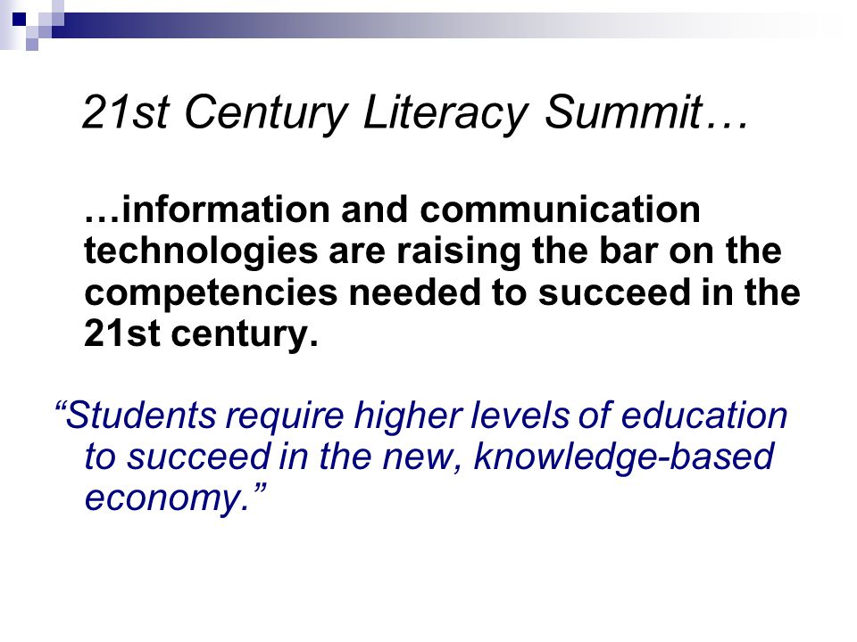 21st Century Literacy Summit…