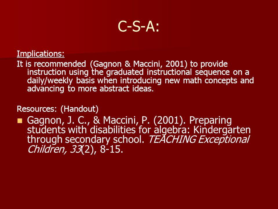 C-S-A: Implications: