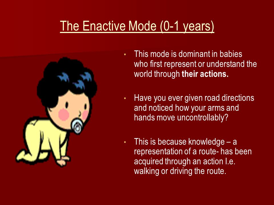 The Enactive Mode (0-1 years)