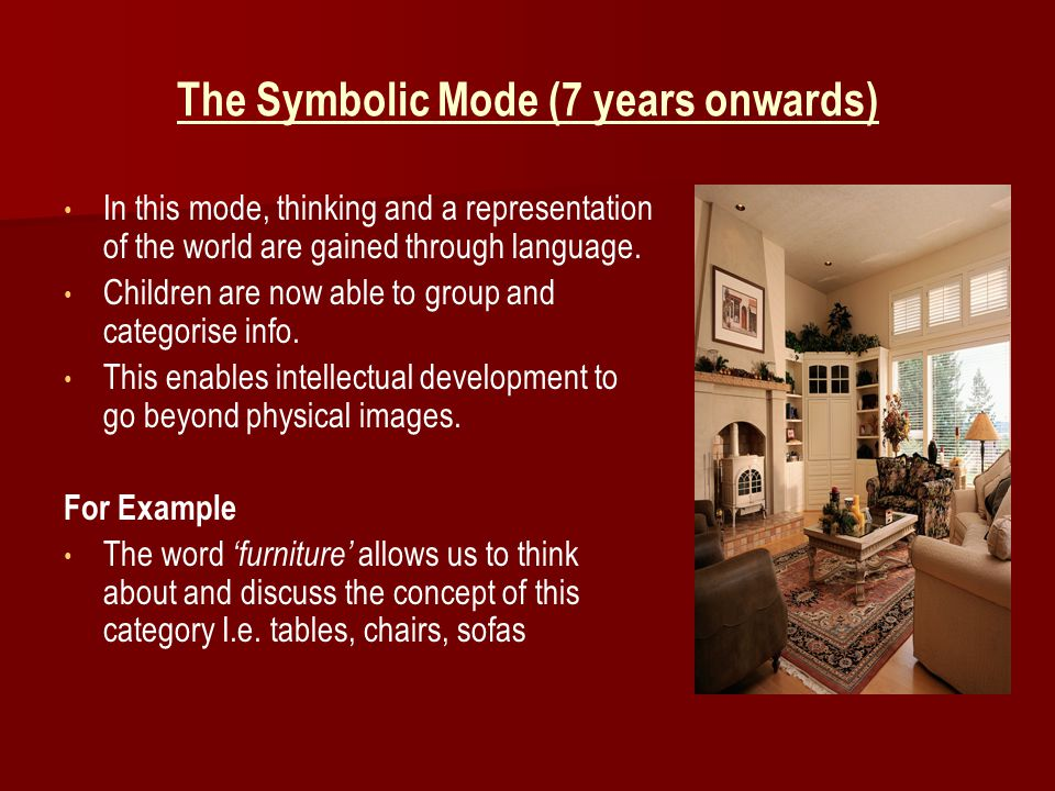 The Symbolic Mode (7 years onwards)