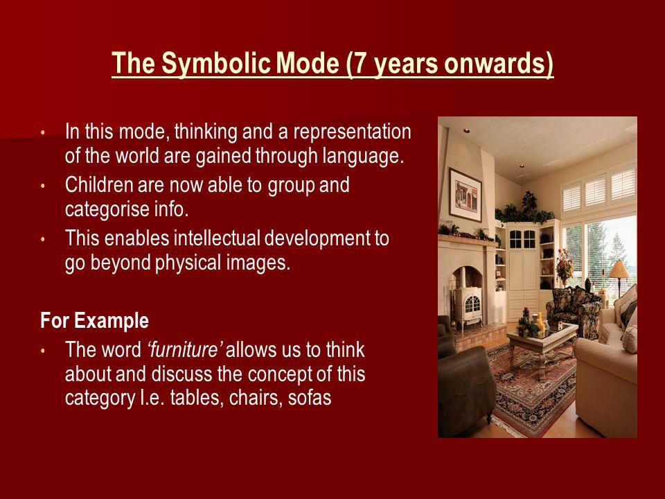 The Symbolic Mode (7 years onwards)