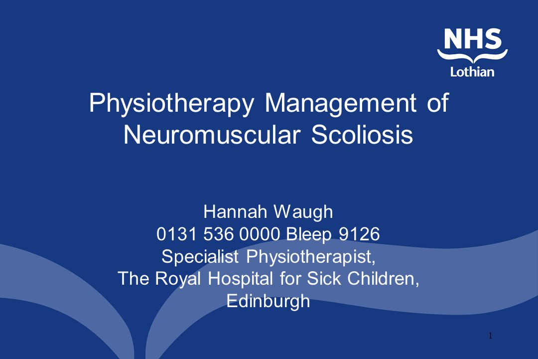 Physiotherapy Management of Neuromuscular Scoliosis