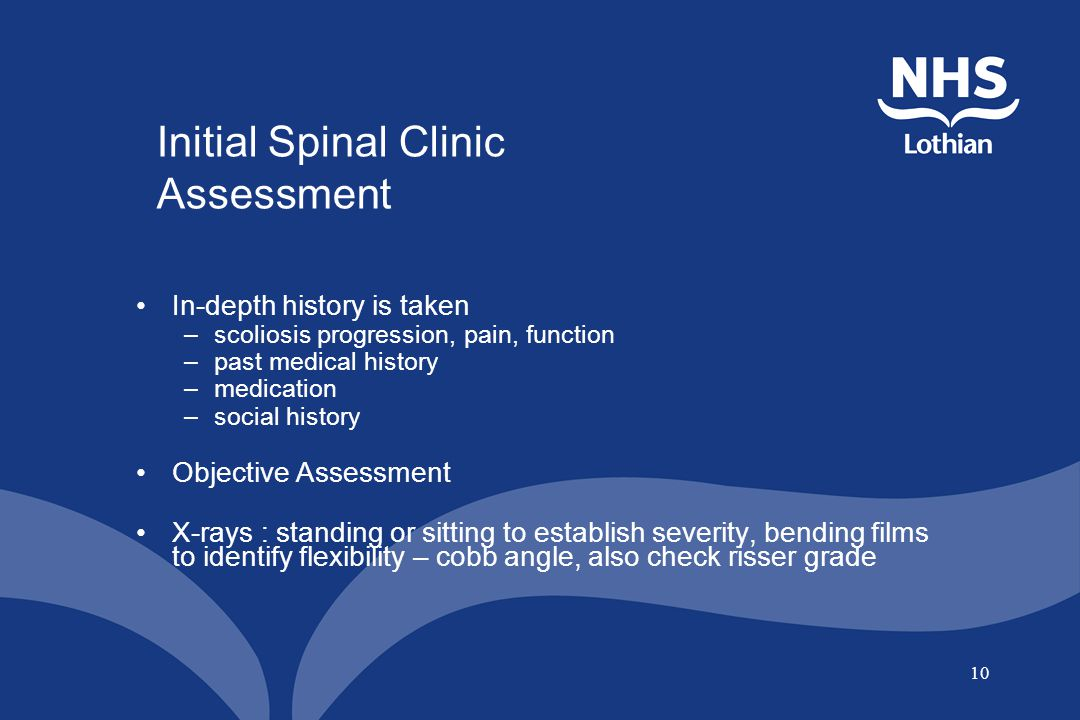 Initial Spinal Clinic Assessment