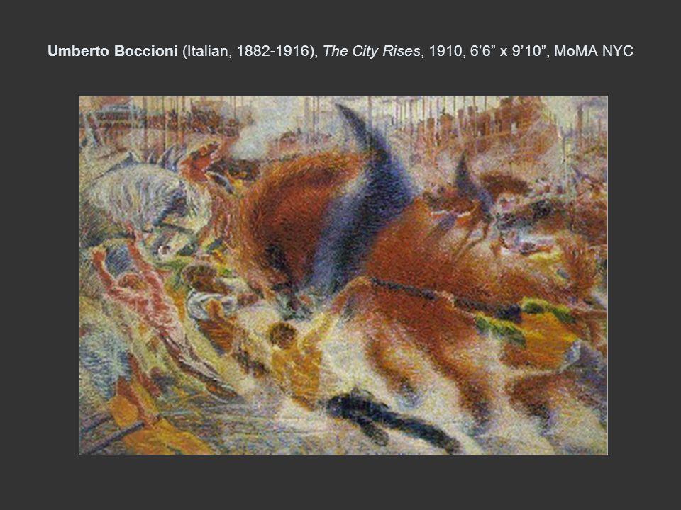 Umberto Boccioni (Italian, 1882-1916), The City Rises, 1910, 6'6 x 9'10 , MoMA NYC