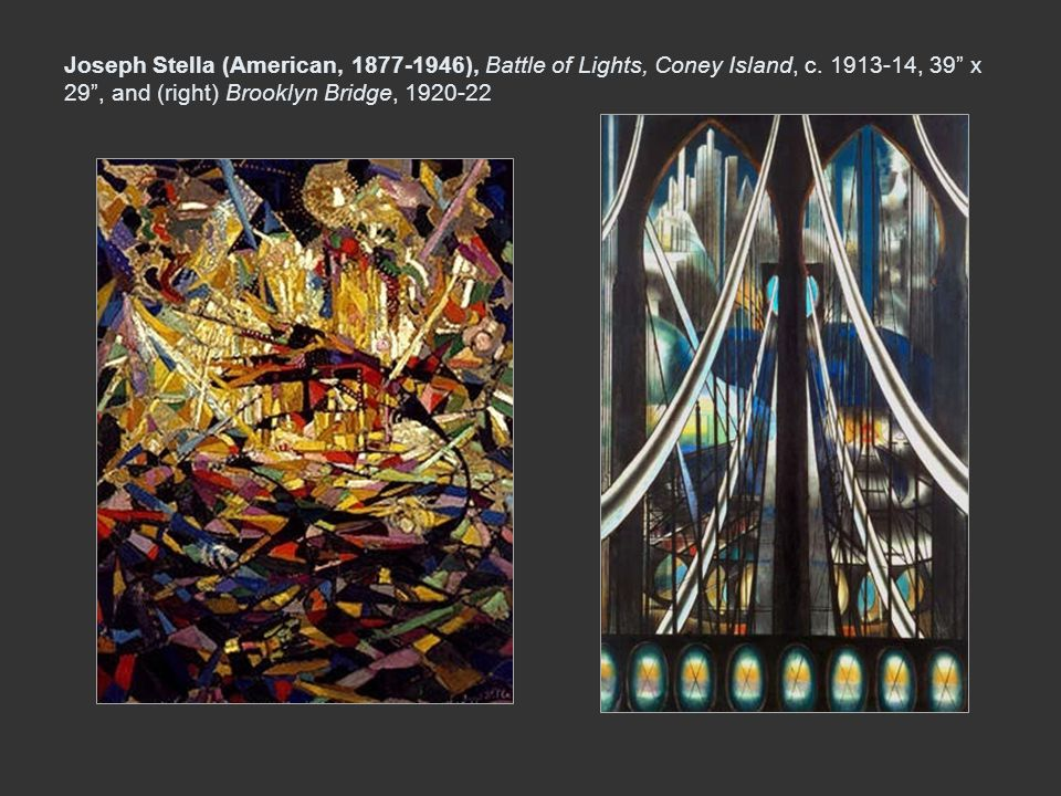 Joseph Stella (American, 1877-1946), Battle of Lights, Coney Island, c