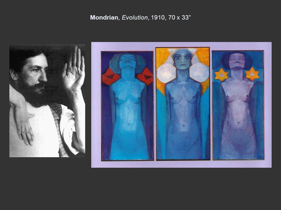 Mondrian, Evolution, 1910, 70 x 33
