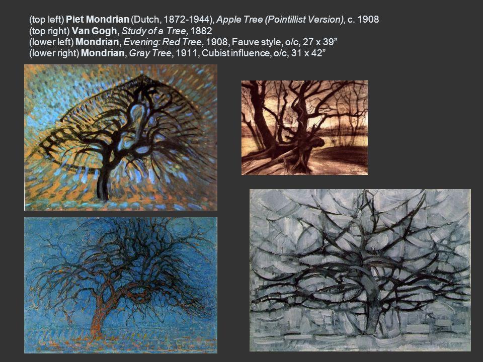 (top left) Piet Mondrian (Dutch, 1872-1944), Apple Tree (Pointillist Version), c.