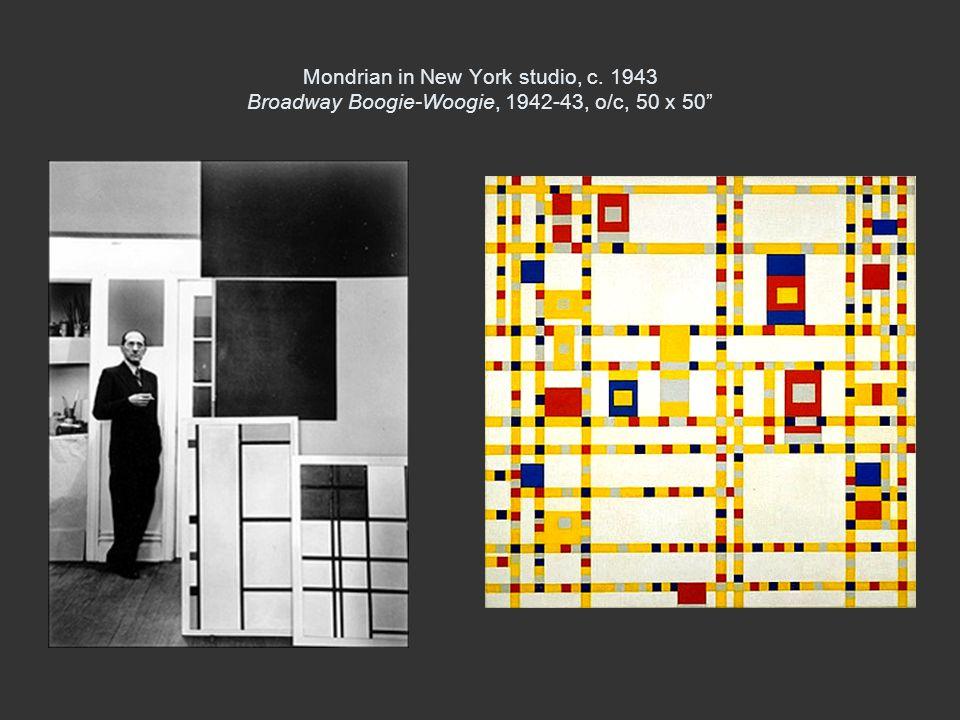 Mondrian in New York studio, c