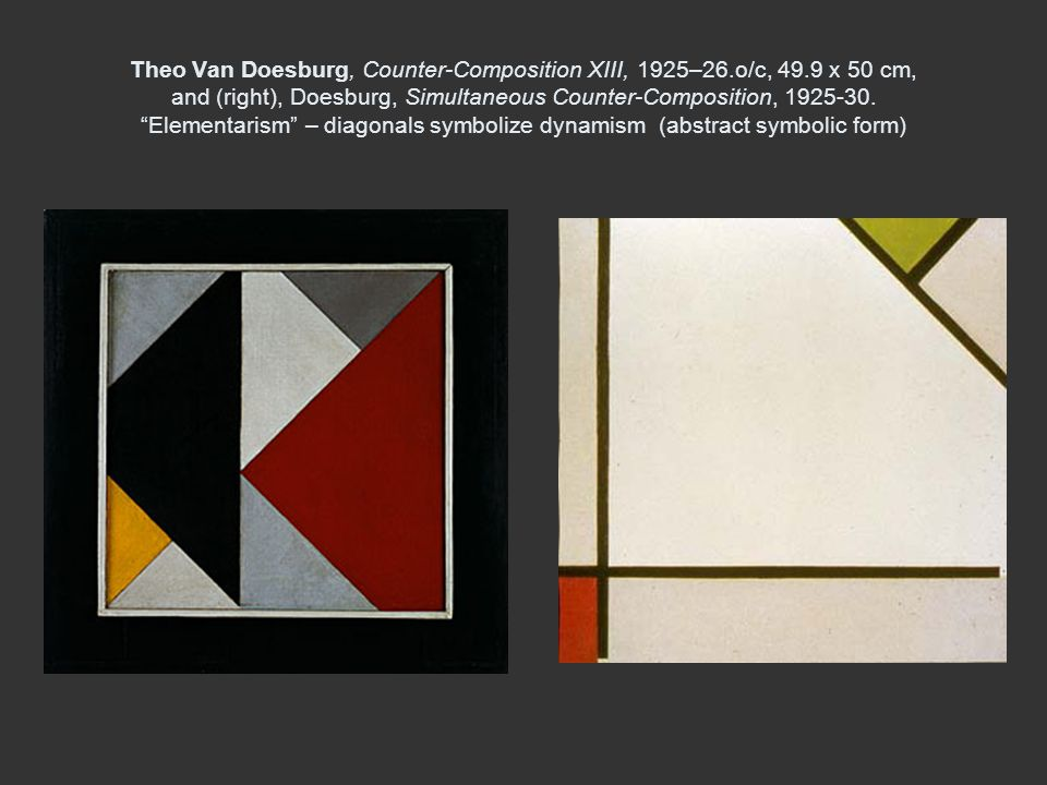 Theo Van Doesburg, Counter-Composition XIII, 1925–26. o/c, 49